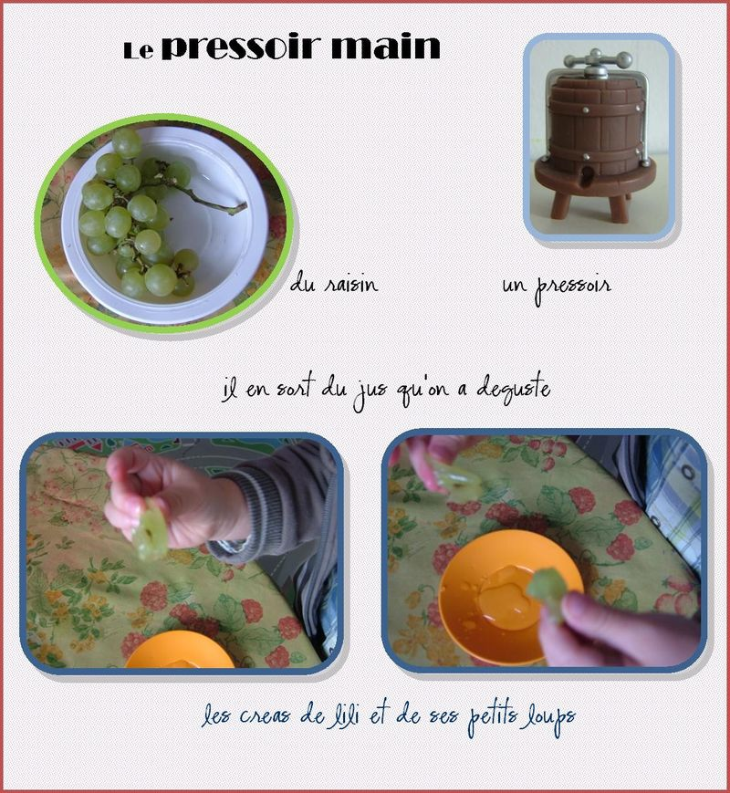 Le pressoir main