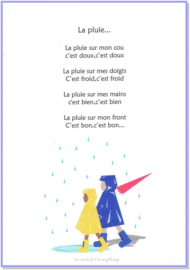 Chansonnette la pluie