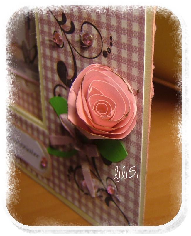 Rose carte marie