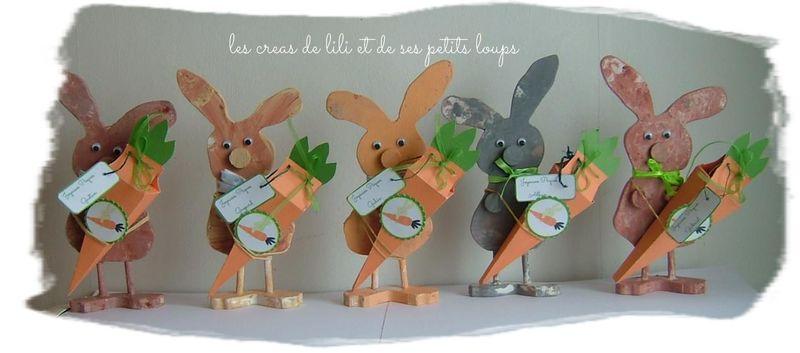 Les lapins et leur carotte pour les petits loups