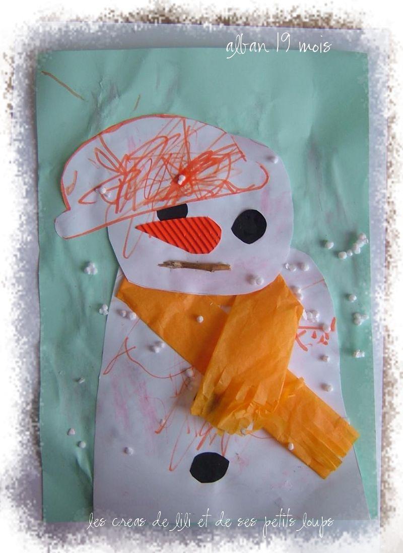 Bonhomme de neige alban