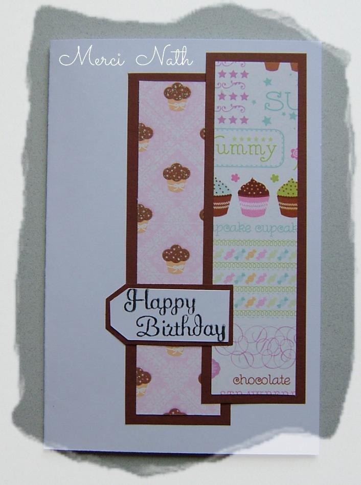 Pour mon anniversaire  carte de Nath