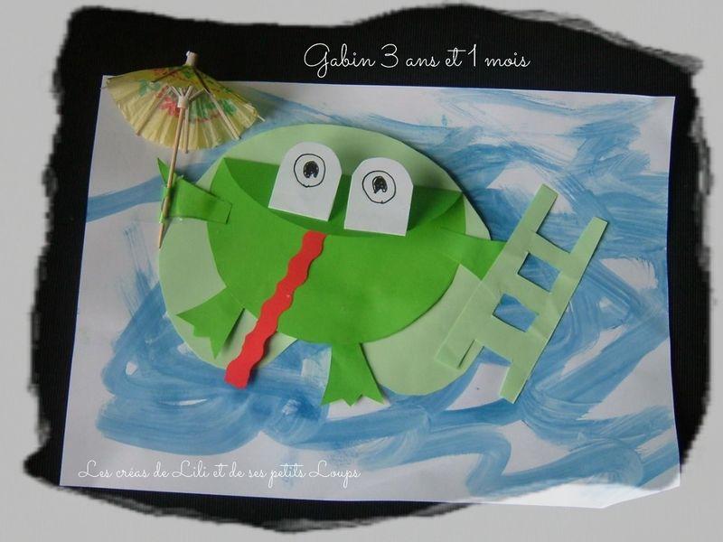 Grenouille echelle et parapluie gabin