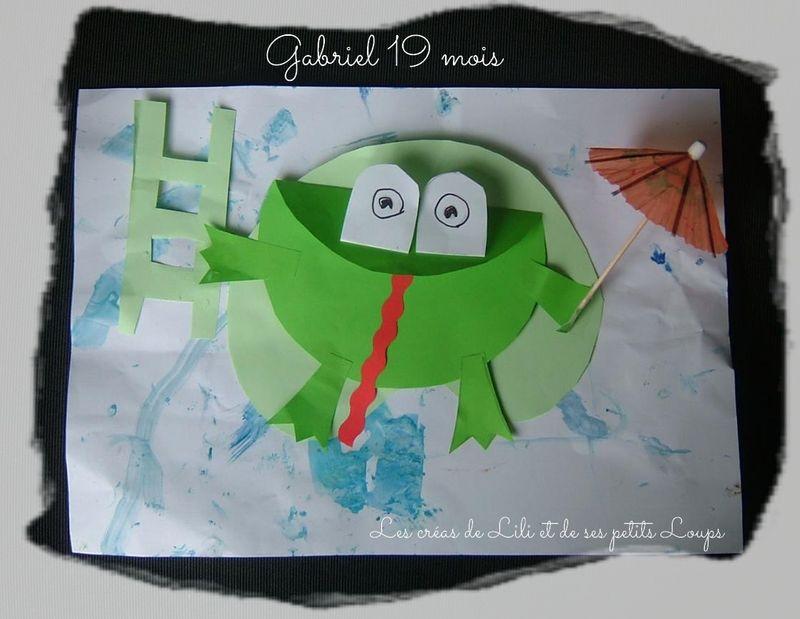 Grenouille echelle et parapluie gabriel