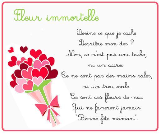 Poeme fleurs immortelles
