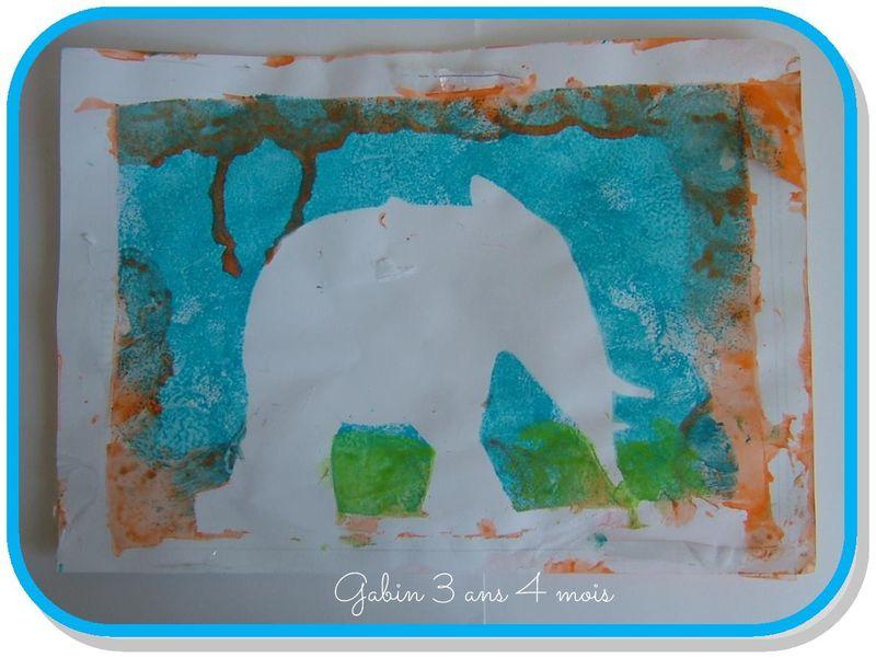 Pochoir elephant gaspard