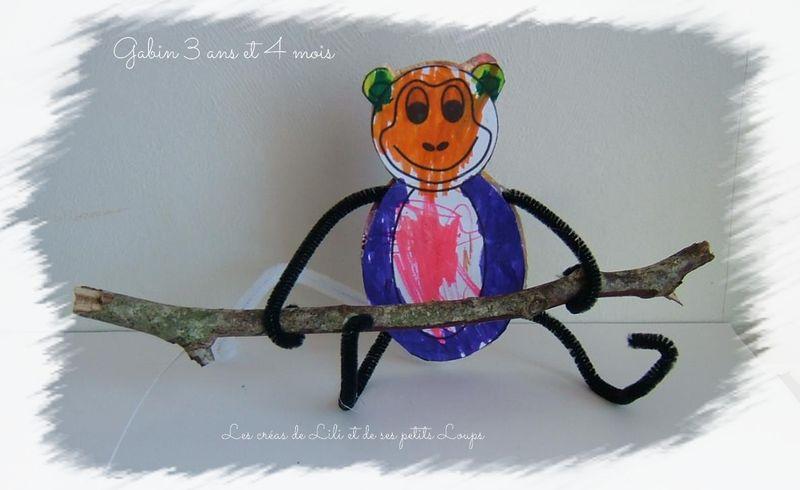 Un singe  branche gaspard