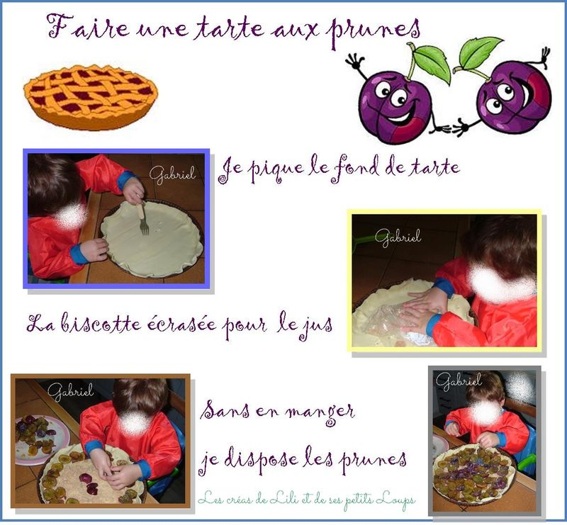 Faire une tarte aux prunes gabriel