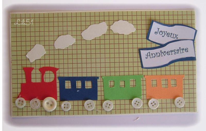 Carte train anniversaire gabin 4 ans