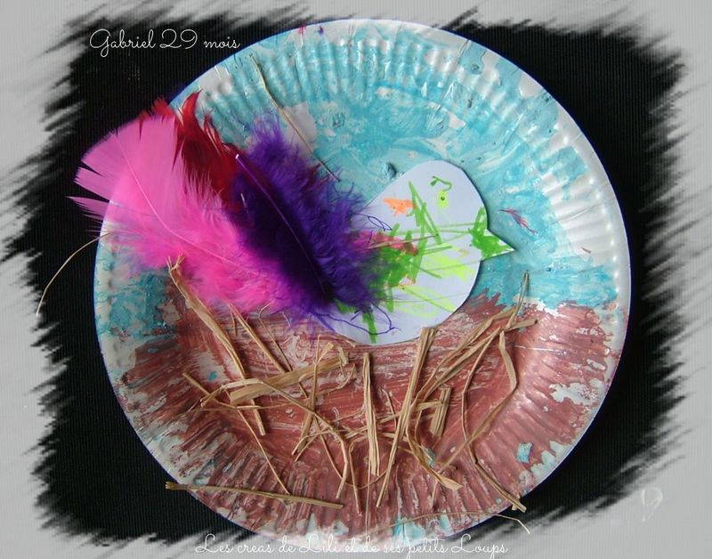 L'oiseau nid assiette gabriel