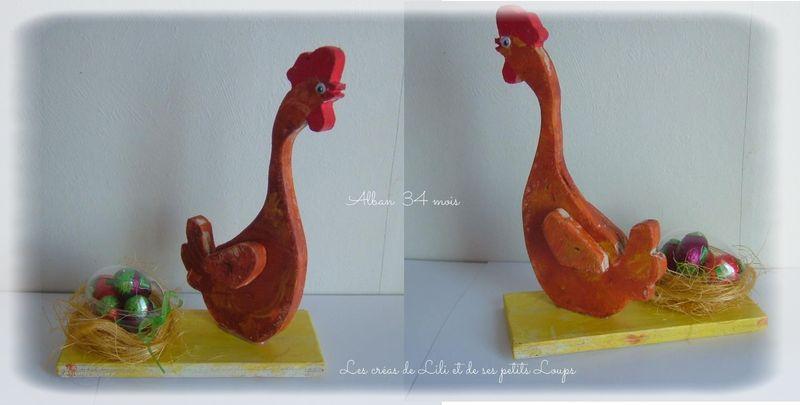 Alban poule pondu 1 oeuf paques 2014