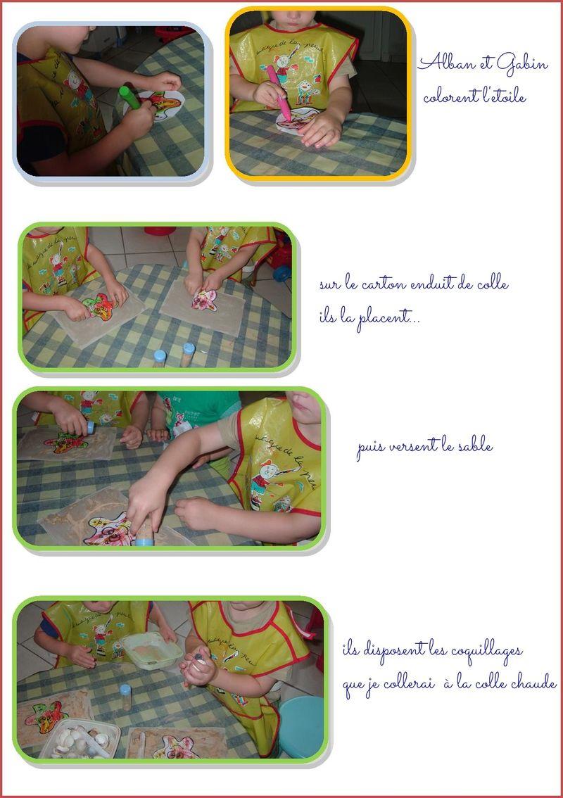 Travail etoile coquillage