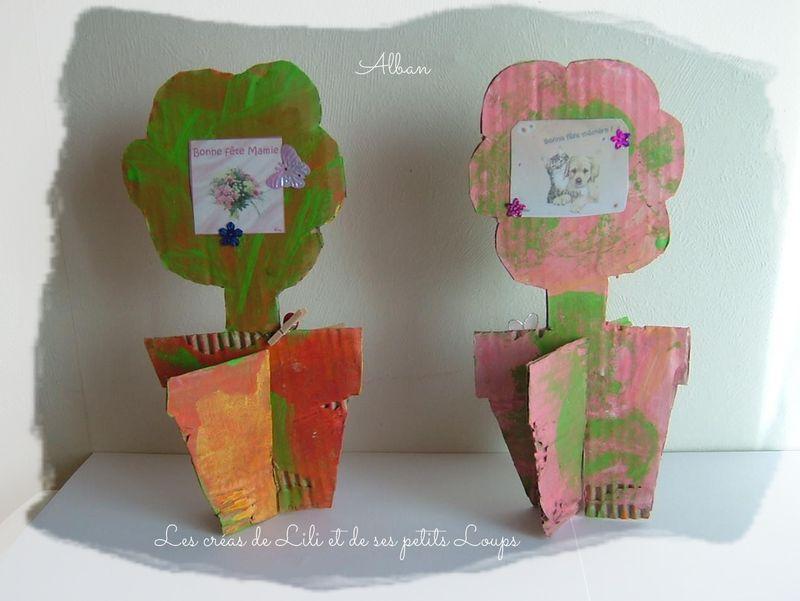 Pot fleurs alban   bonne fete mamie 2014