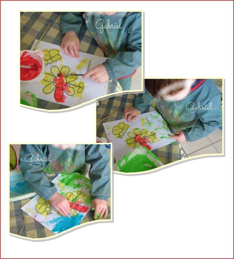 Gabriel peint la paquerette