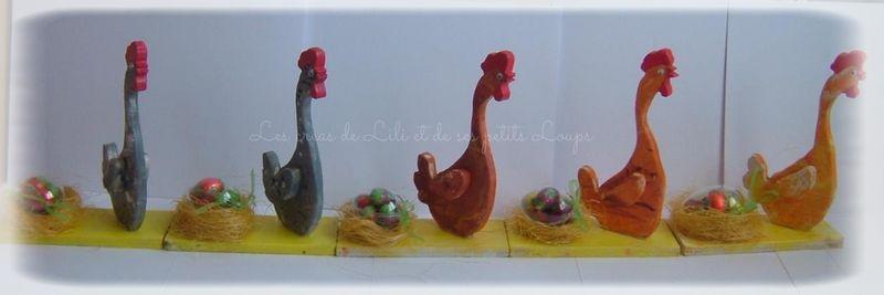 Les 5 poules qui ont pondu paques 2014