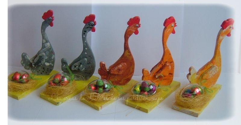 Les poules paques 2014