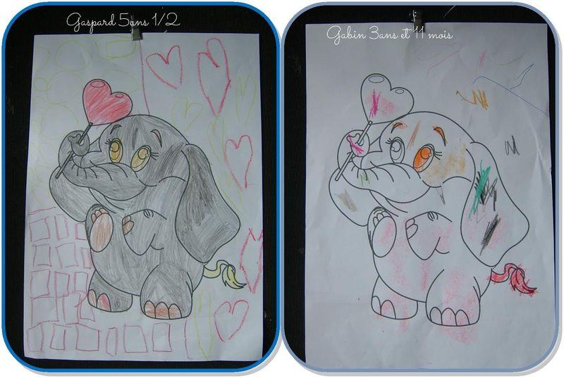 Elephant st valentin gaspard et gabin