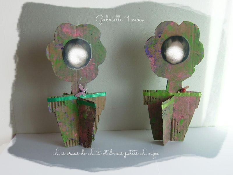 Pot fleur gabrielle bonne fete mamie 2014