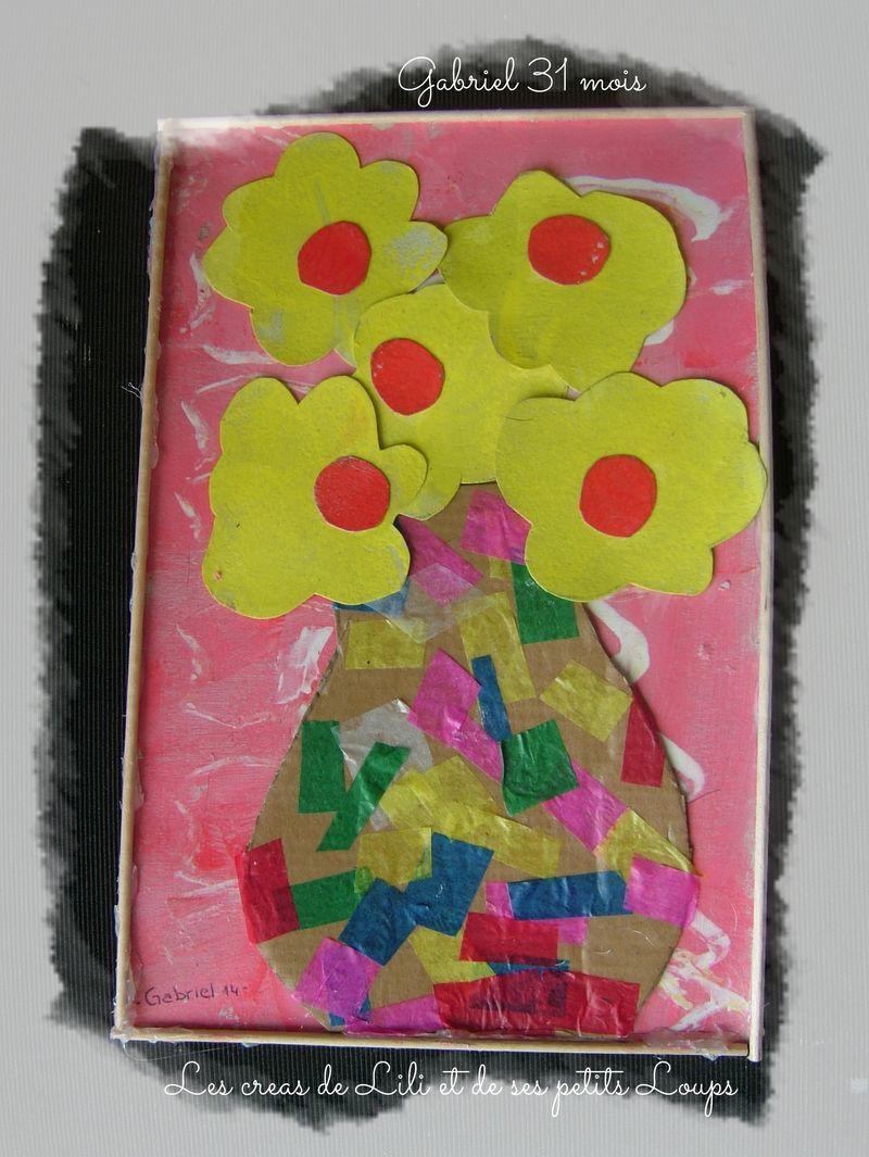 Tableau vase fleurs gabriel
