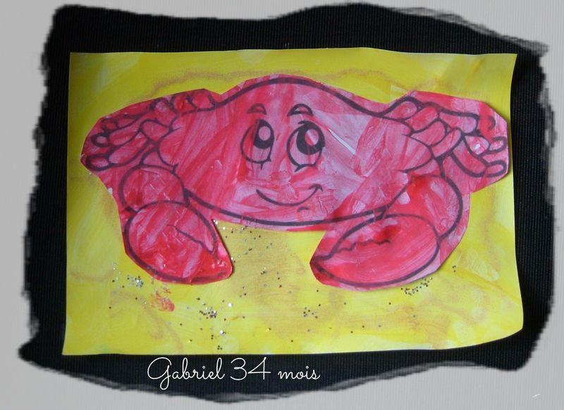 Le petit crabe de gabriel