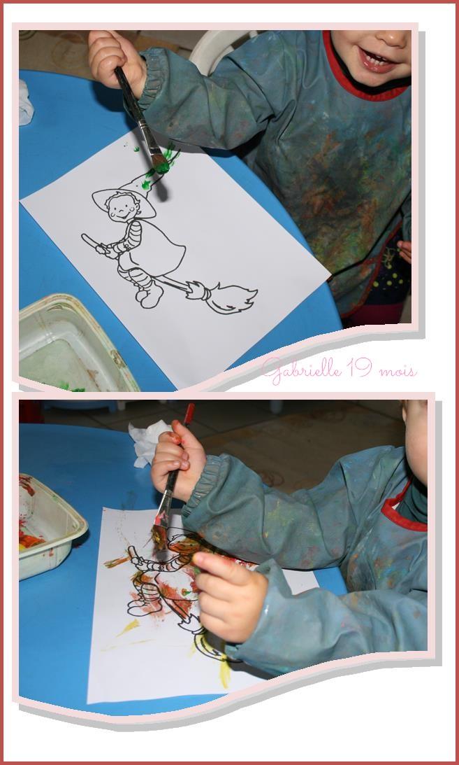 Peindre la sorciere gabrielle
