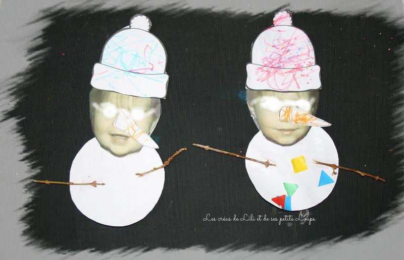 Mes 2 bonhommes de neige