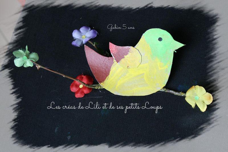 L'oiseau sur la branche fleurie de gabin