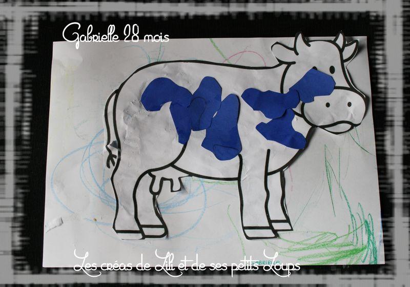 Gabrielle les taches sur la vaches