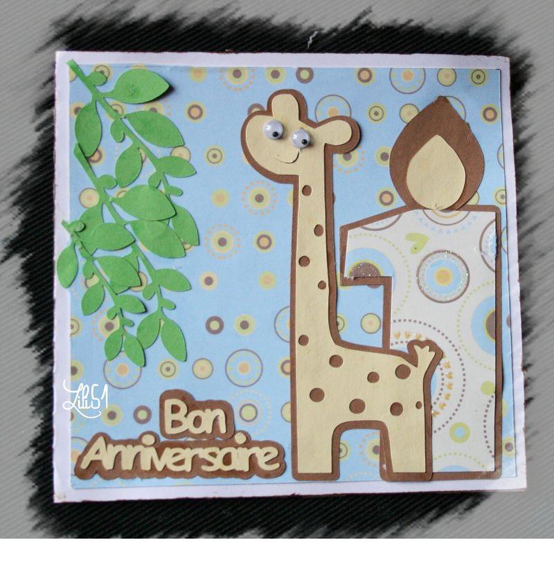 Carte 1er anniversaire paulin