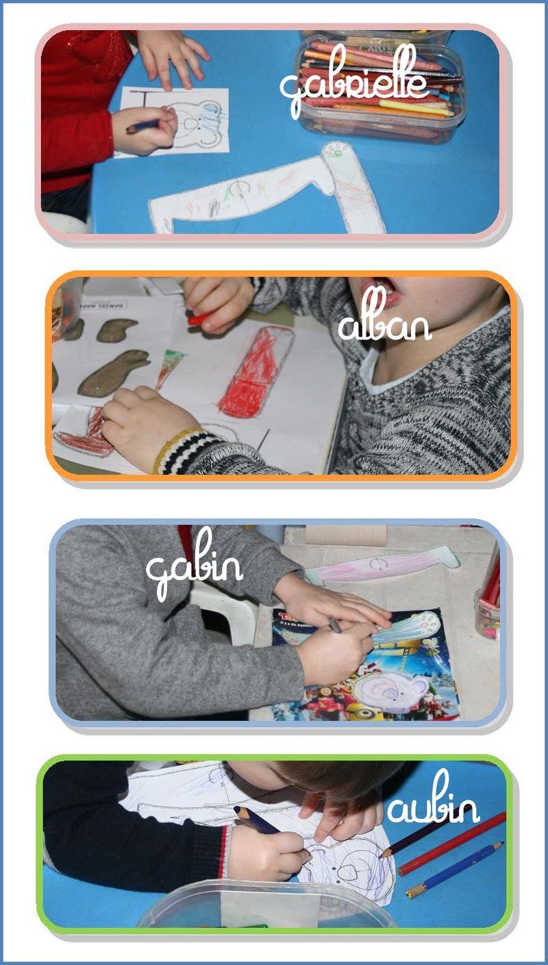 Les 4 colorent nounours