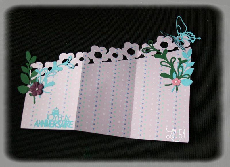 Carte accordeon marie ouverte