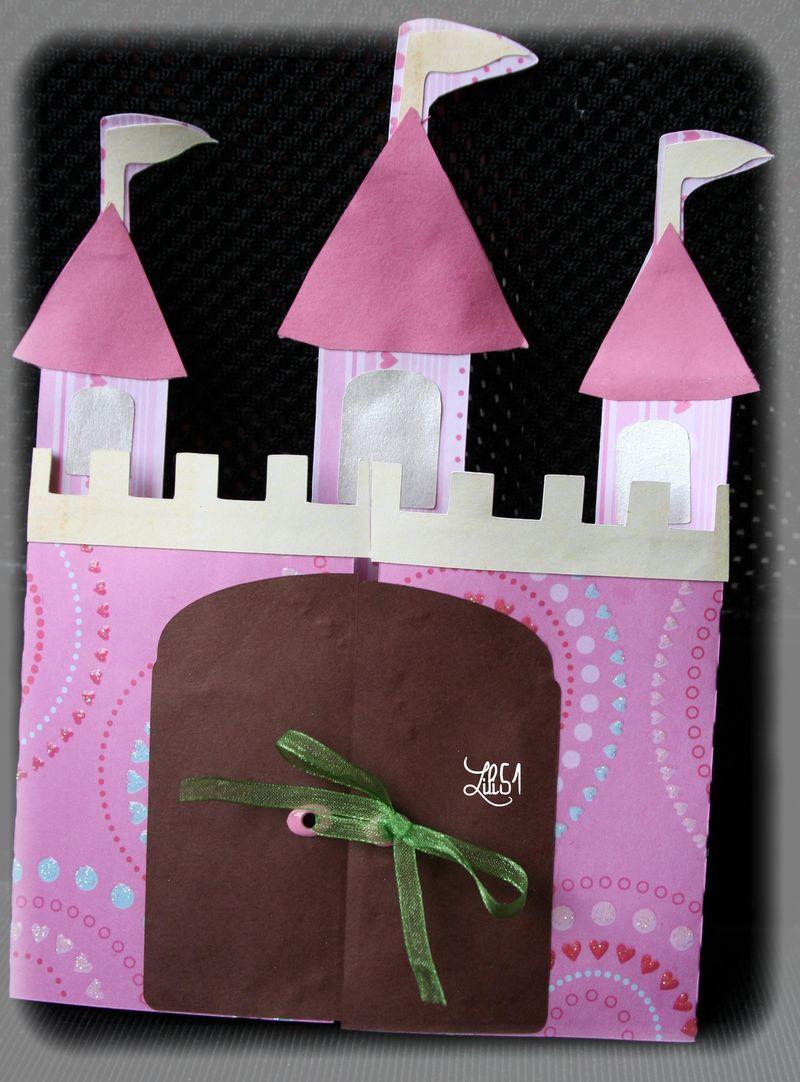 Carte anniversaire chateau gabrielle
