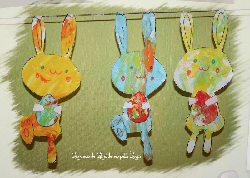 Les 3 lapins et leur oeuf