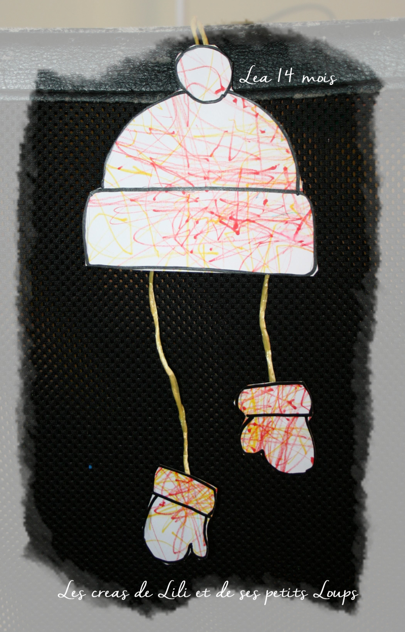 Bonnet et gant de léa