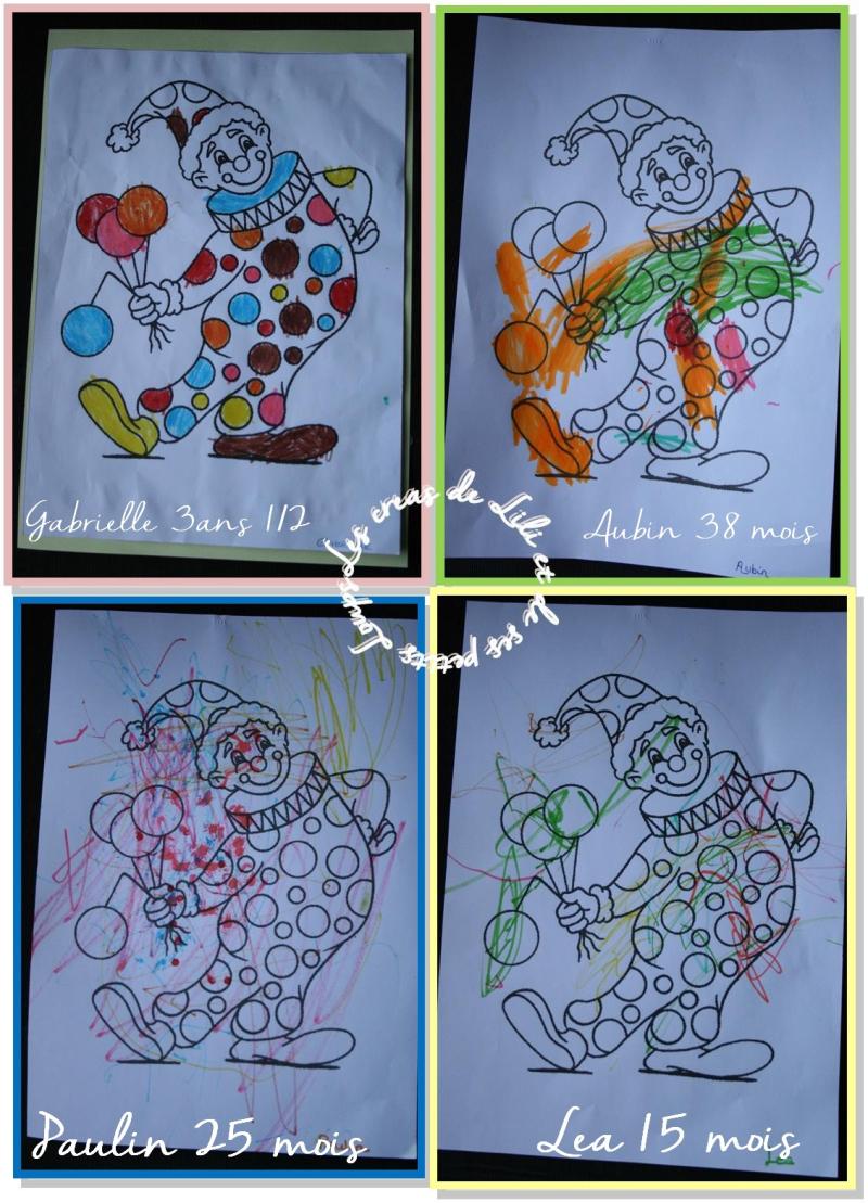 Coloriage clown ballon