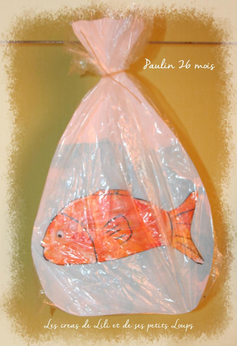 Poisson en sac plastique de paulin