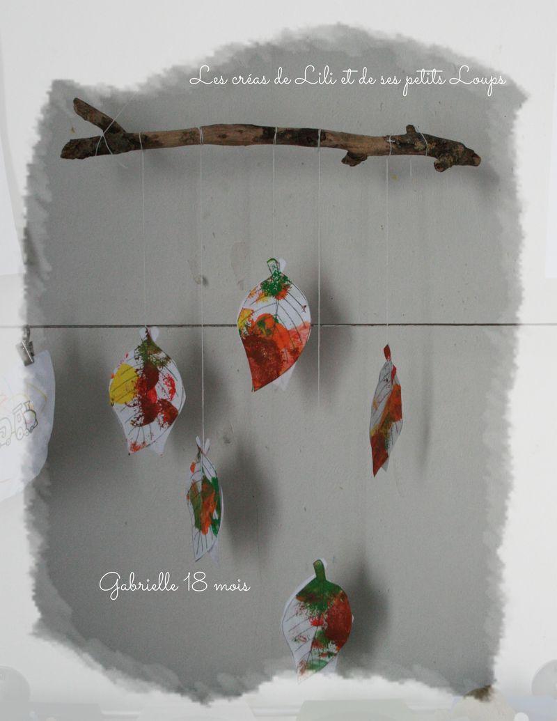 Mobile feuille d'automne