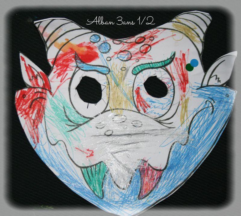 Masque dinausore de alban