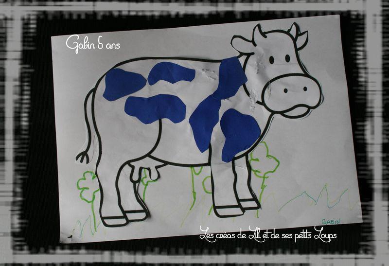 Gabin les taches sur la vache