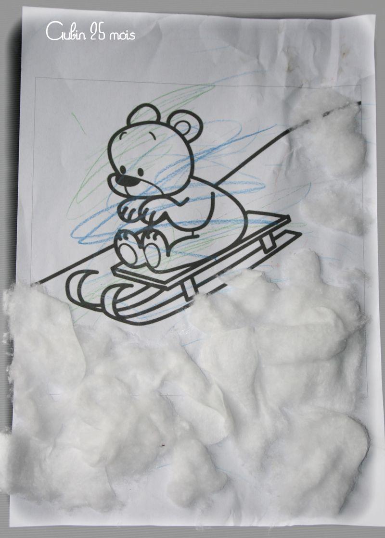 Nounours skie  aubin