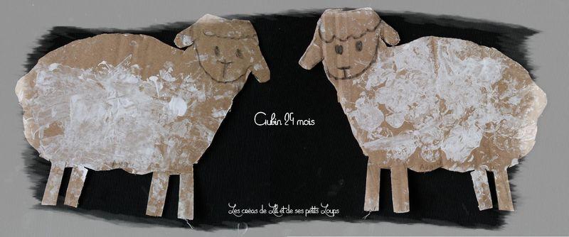 Mouton carton peint  gabrielle