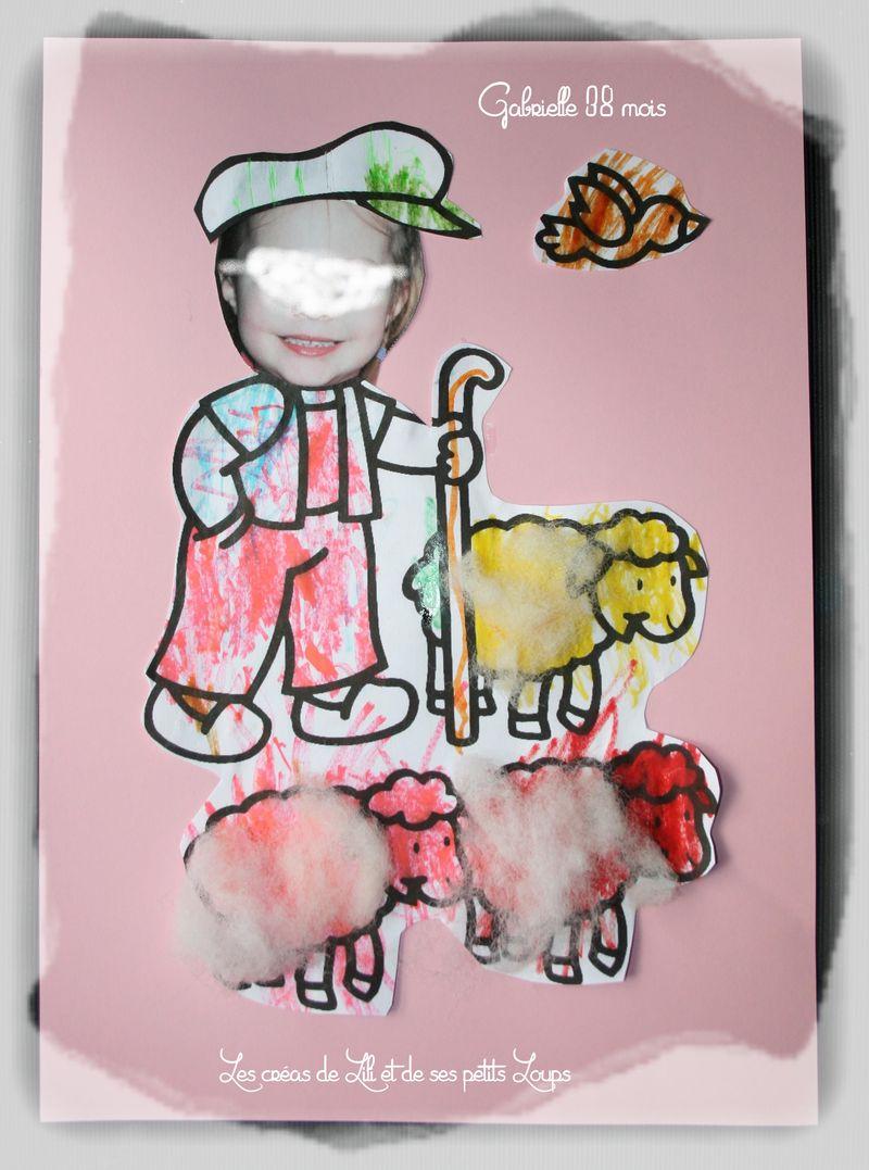 La bergere gabrielle  et ses mouton  - Copie