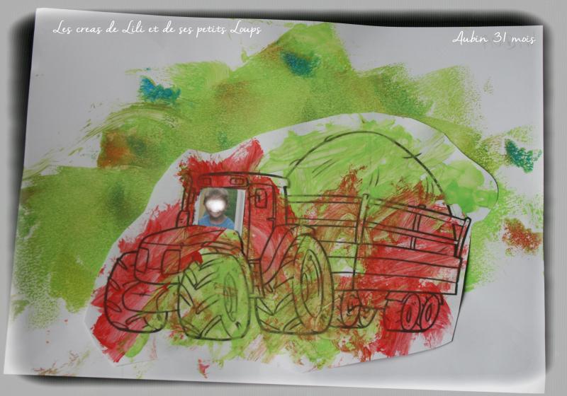 Tracteur champs papilllon aubin