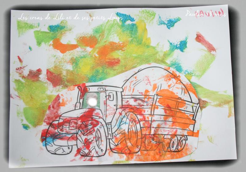 Tracteur champs papilllon paulin