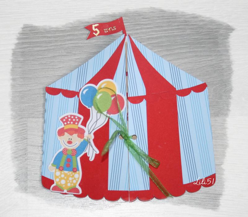 Carte cirque 5 ans thimothée
