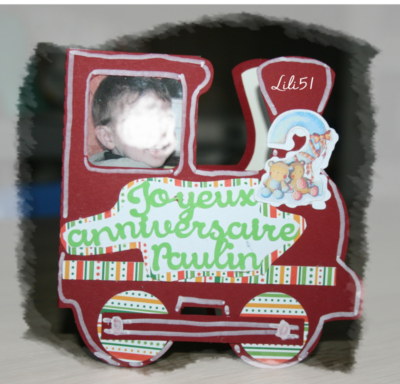 Carte train paulin2 ans - Copie