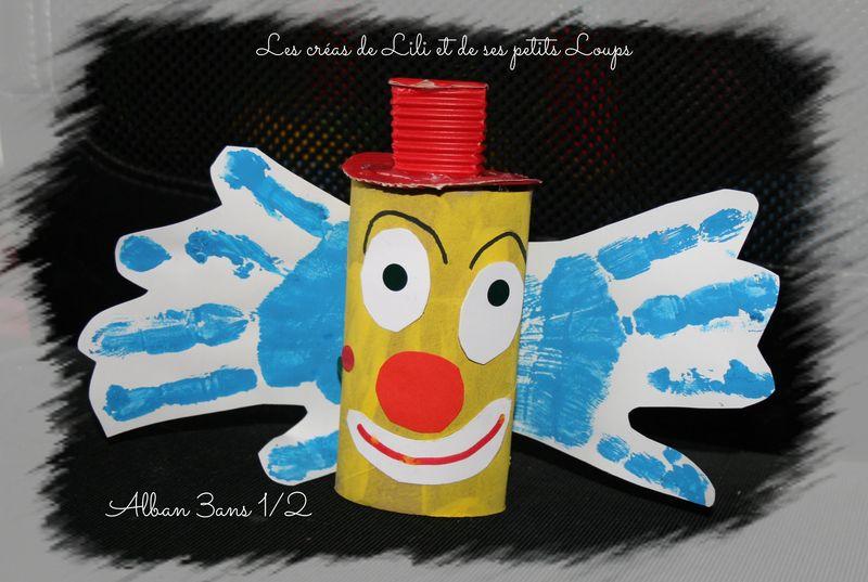Clown rouleau d'alban