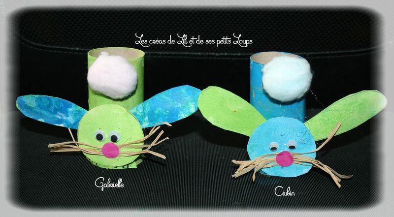 Les petits lapins rouleau