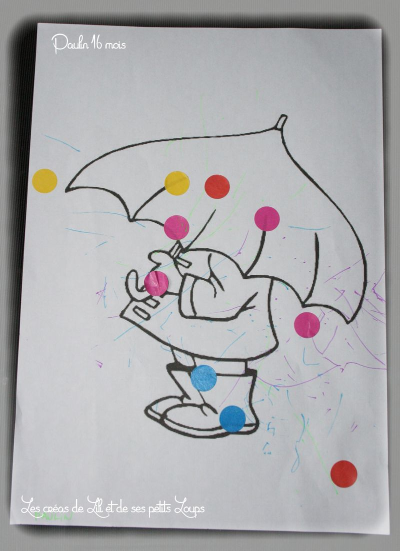 Gommette sur parapluie gabrielle