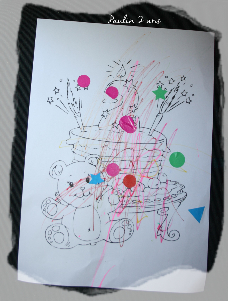 Coloriage 2 ans paulin